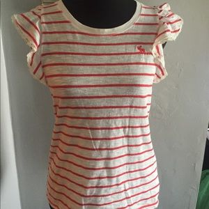 Abercrombie and Fitch. Red and white striped shirt